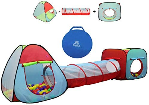 Kiddey Children's Dual Play Tent with Tunnel