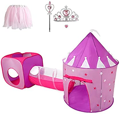 Hide N Side Princess Tent with Tunnel and Castle