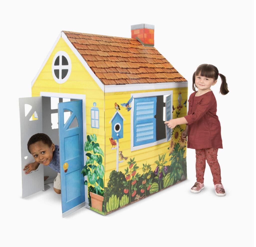 Melissa & Doug Cardboard Cottage Playhouse