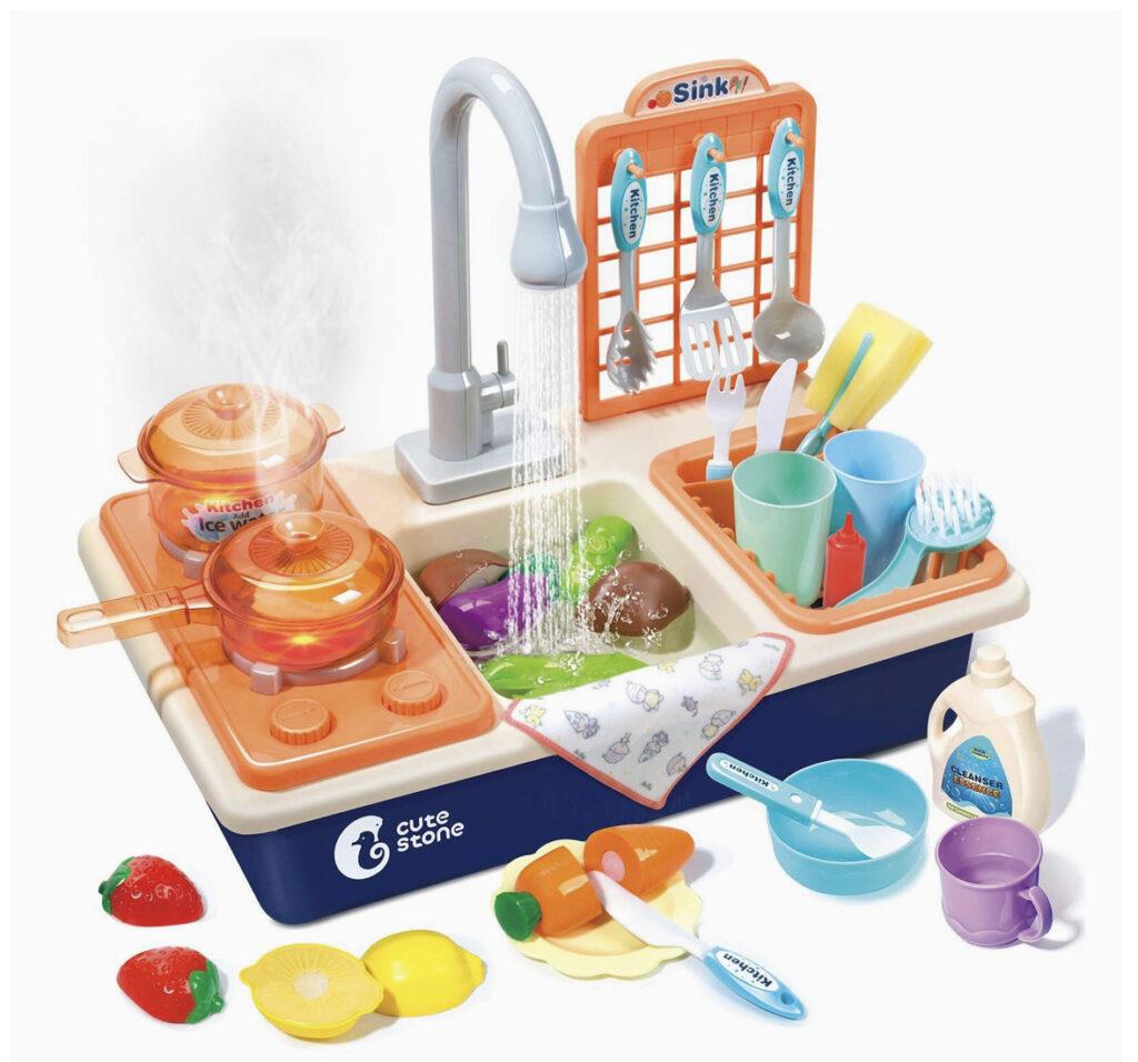 Cute Stone Pretend Play Kitchen Sink Toys