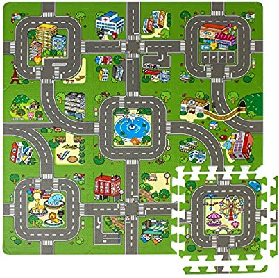 Sorbus Traffic Puzzle Play Mat