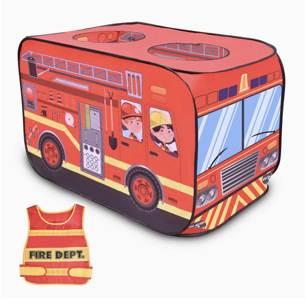 Fun Little Toys Fire Truck Tent House