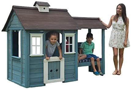 Sportspower Wooden Outdoor Playhouse with Bench