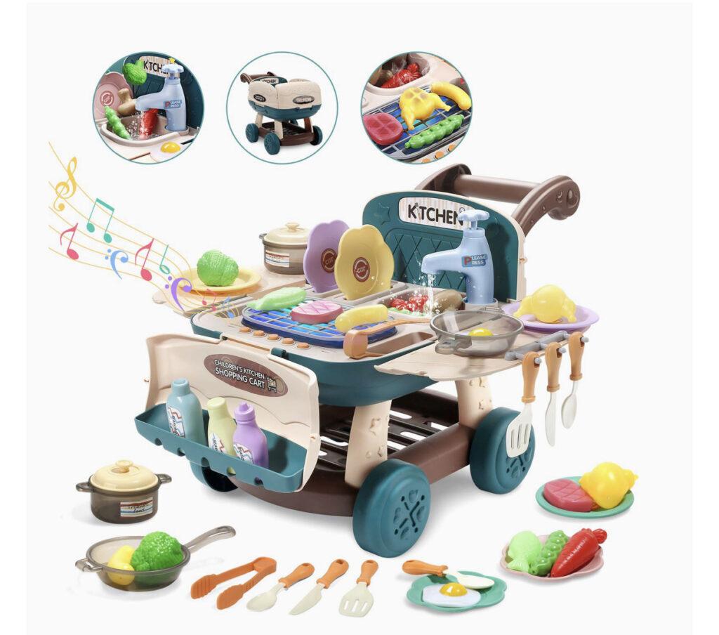 Cute Stone Shopping Cart Playset