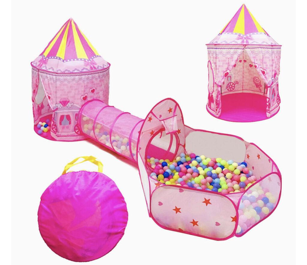 Lojeton 3pc Castle Play Tent
