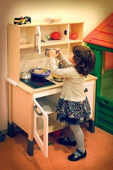 Kids Vintage Play Kitchen